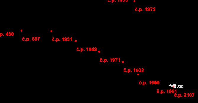 Předměstí 1971, Opava na parcele st. 372/11 v KÚ Opava-Předměstí, Katastrální mapa