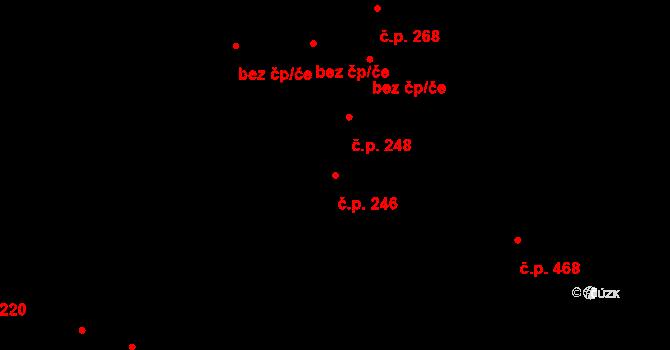 Povel 246, Olomouc na parcele st. 283 v KÚ Povel, Katastrální mapa