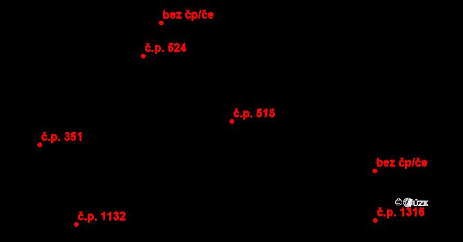 Liberec XIV-Ruprechtice 515, Liberec na parcele st. 2024 v KÚ Ruprechtice, Katastrální mapa