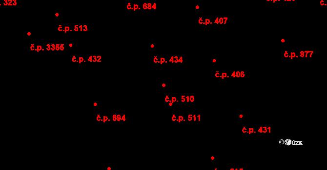 Kladno 510 na parcele st. 6487/1 v KÚ Kladno, Katastrální mapa