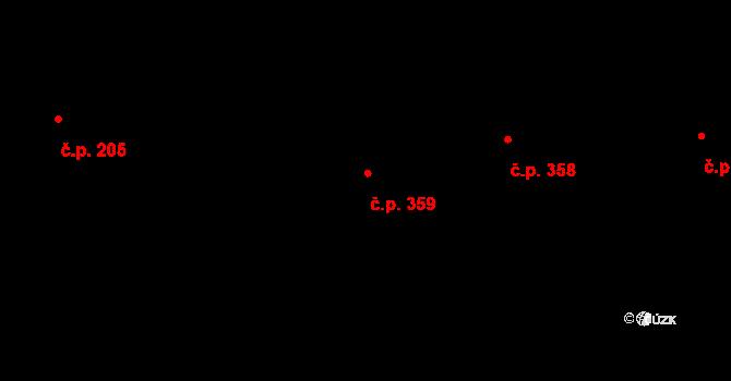 Prostřední Lánov 359, Lánov na parcele st. 667 v KÚ Prostřední Lánov, Katastrální mapa