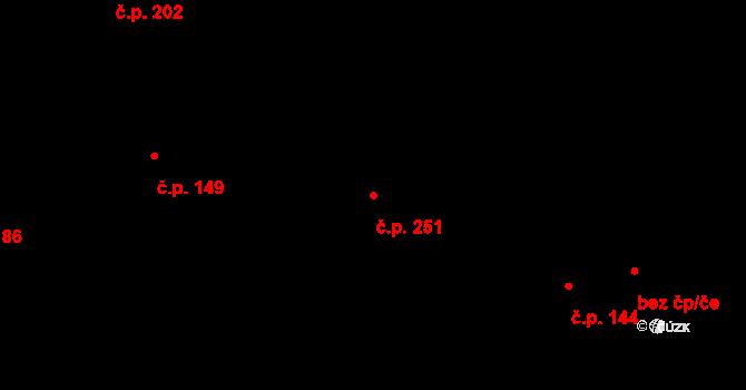 Mirošovice 251 na parcele st. 772 v KÚ Mirošovice u Říčan, Katastrální mapa