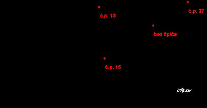 Sloup 15, Davle na parcele st. 119 v KÚ Davle, Katastrální mapa