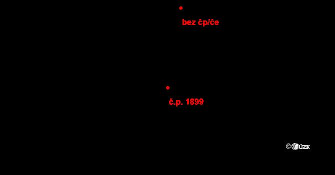 Řečkovice 1899, Brno na parcele st. 3597/3 v KÚ Řečkovice, Katastrální mapa