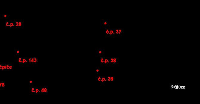 Lhota 38, Háj ve Slezsku na parcele st. 46 v KÚ Lhota u Opavy, Katastrální mapa
