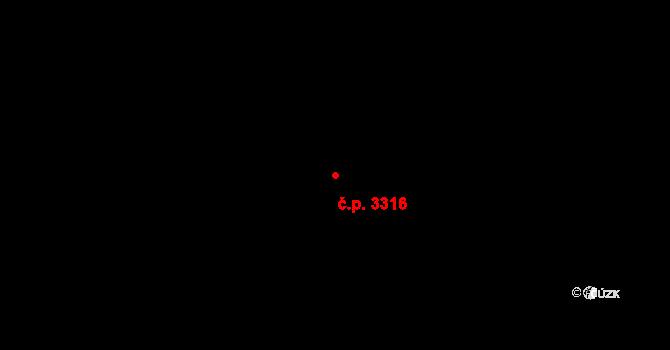 Severní Terasa 3316, Ústí nad Labem na parcele st. 1308/5 v KÚ Bukov, Katastrální mapa