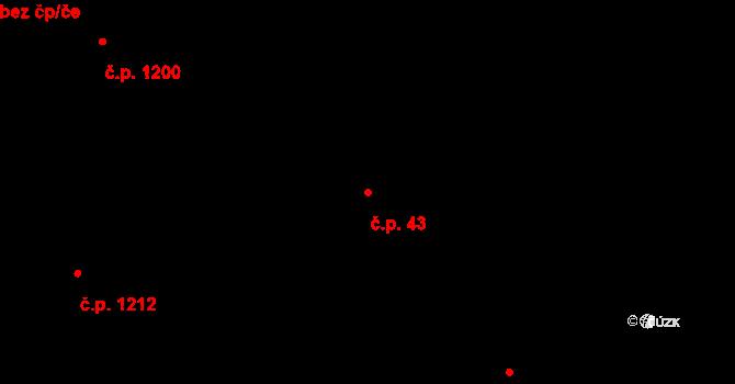 Liberec VI-Rochlice 43, Liberec na parcele st. 880/1 v KÚ Rochlice u Liberce, Katastrální mapa