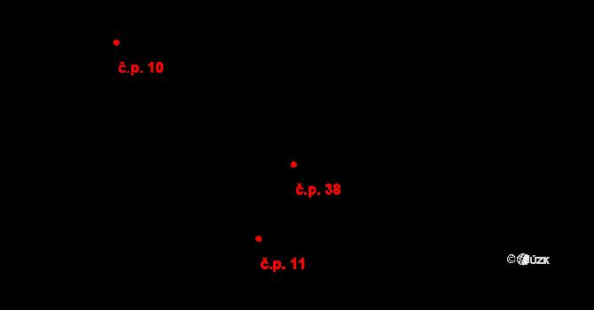 Lhota 38, Kelč na parcele st. 7 v KÚ Lhota u Kelče, Katastrální mapa