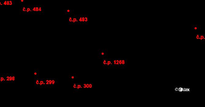 Košíře 1268, Praha na parcele st. 809/2 v KÚ Košíře, Katastrální mapa