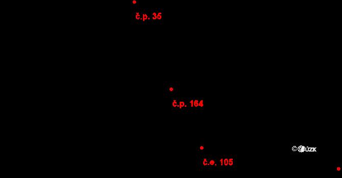 Řež 164, Husinec na parcele st. 468 v KÚ Husinec u Řeže, Katastrální mapa