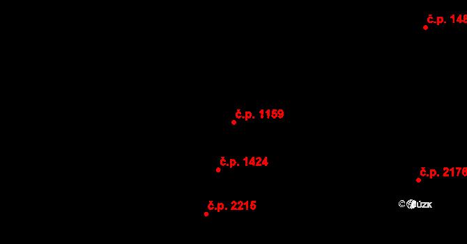 Šternberk 1159 na parcele st. 2054 v KÚ Šternberk, Katastrální mapa