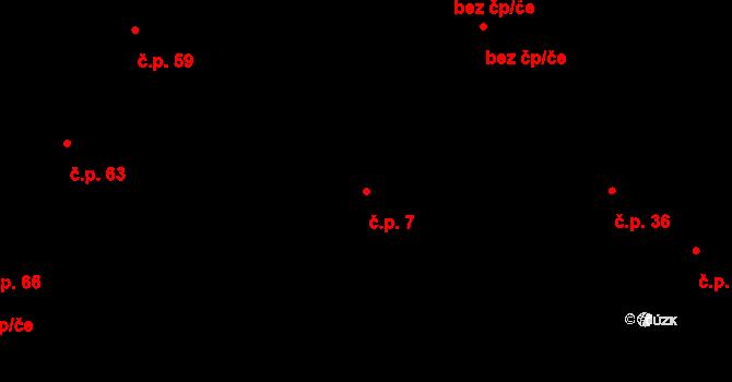 Količín 7, Holešov na parcele st. 34 v KÚ Količín, Katastrální mapa
