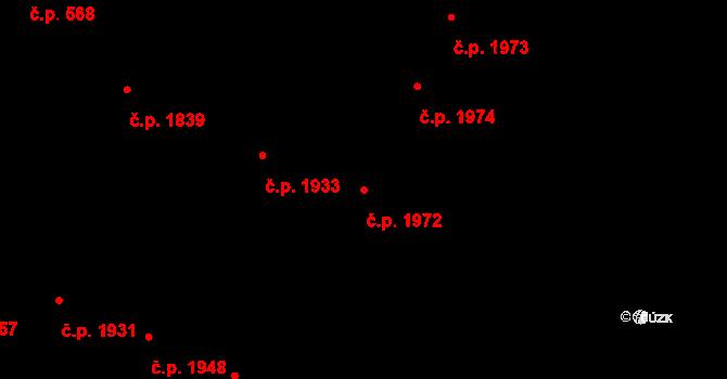 Předměstí 1972, Opava na parcele st. 372/15 v KÚ Opava-Předměstí, Katastrální mapa