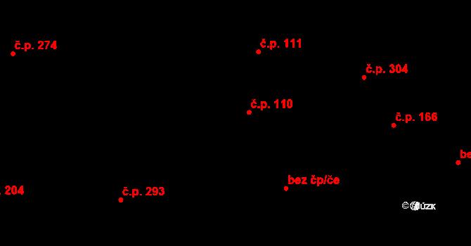 Davle 110 na parcele st. 723 v KÚ Davle, Katastrální mapa