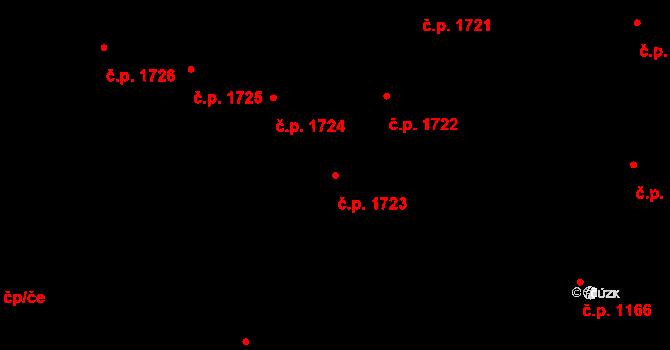 Nový Hradec Králové 1723, Hradec Králové na parcele st. 659 v KÚ Kluky, Katastrální mapa