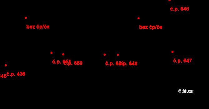 Svítkov 649, Pardubice na parcele st. 746 v KÚ Svítkov, Katastrální mapa