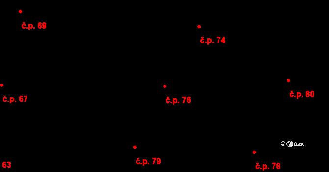 Sedlejov 76 na parcele st. 128 v KÚ Sedlejov, Katastrální mapa