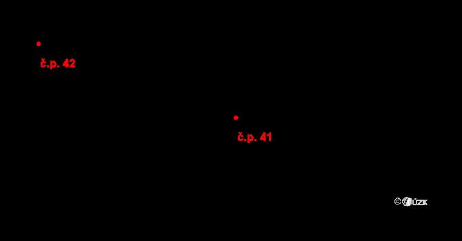 Dolní Pěna 41 na parcele st. 52 v KÚ Dolní Pěna, Katastrální mapa