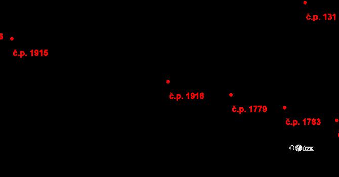 Záběhlice 1916, Praha na parcele st. 116 v KÚ Záběhlice, Katastrální mapa