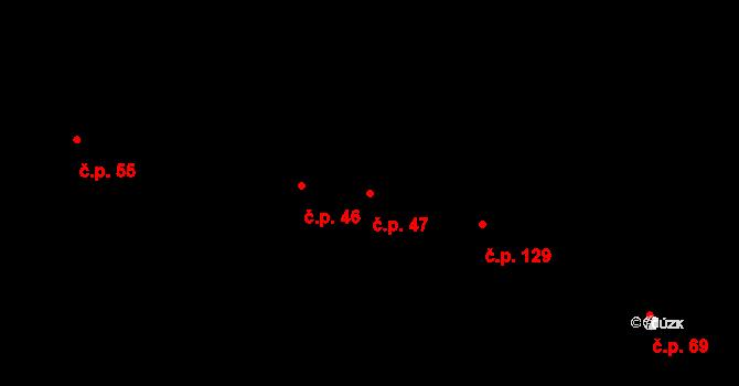 Rapotice 47 na parcele st. 47 v KÚ Rapotice, Katastrální mapa