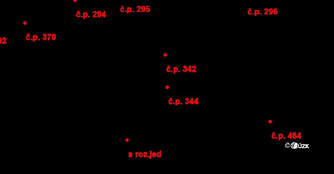 Trnitá 344, Brno na parcele st. 1127 v KÚ Trnitá, Katastrální mapa