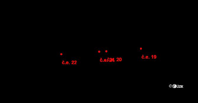 Staré Hory 21, Jihlava na parcele st. 154 v KÚ Staré Hory, Katastrální mapa