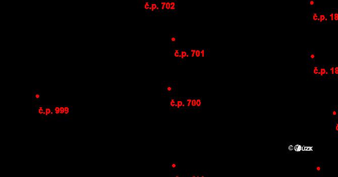 Veveří 700, Brno na parcele st. 1441/1 v KÚ Veveří, Katastrální mapa