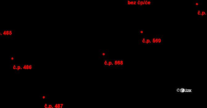 Frýdek 568, Frýdek-Místek na parcele st. 1085/82 v KÚ Frýdek, Katastrální mapa