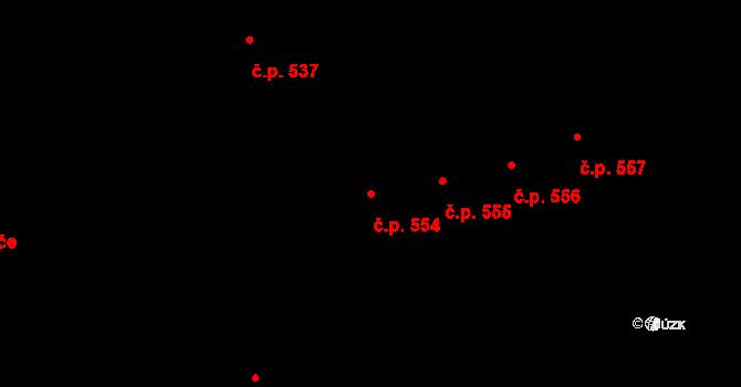 Nový Lískovec 554, Brno na parcele st. 733/59 v KÚ Nový Lískovec, Katastrální mapa