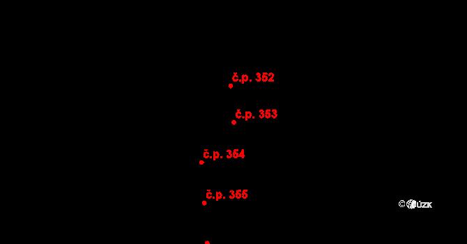 Staré Čívice 353, Pardubice na parcele st. 484 v KÚ Staré Čívice, Katastrální mapa