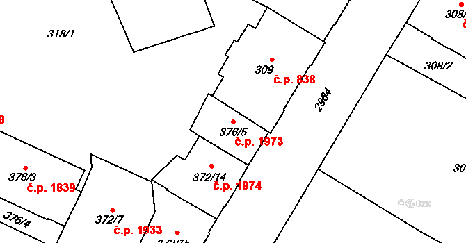 Předměstí 1973, Opava na parcele st. 376/5 v KÚ Opava-Předměstí, Katastrální mapa