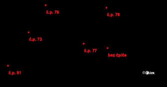 Sedlejov 77 na parcele st. 133 v KÚ Sedlejov, Katastrální mapa