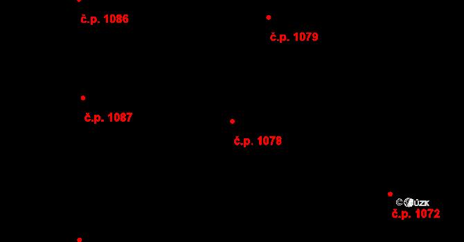 Nivnice 1078 na parcele st. 1981/58 v KÚ Nivnice, Katastrální mapa
