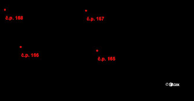 Nová Ves u Nového Města na Moravě 165 na parcele st. 1551/25 v KÚ Nová Ves u Nového Města na Moravě, Katastrální mapa