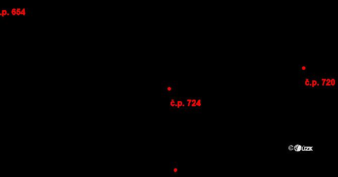 Božkov 724, Plzeň na parcele st. 78/5 v KÚ Božkov, Katastrální mapa