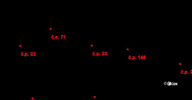Městečko 23 na parcele st. 30 v KÚ Městečko u Křivoklátu, Katastrální mapa