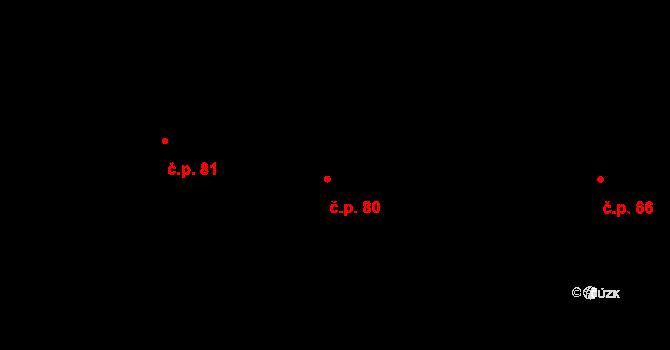 Bílá 80 na parcele st. 207 v KÚ Bílá u Českého Dubu, Katastrální mapa