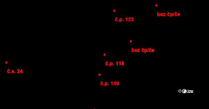 Újezd u Rosic 118 na parcele st. 137/1 v KÚ Újezd u Rosic, Katastrální mapa