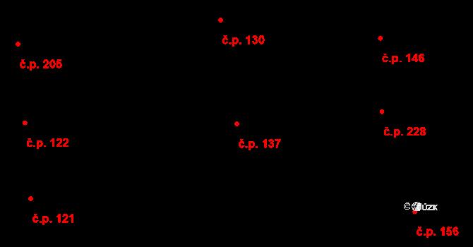 Bubeneč 137, Praha na parcele st. 557 v KÚ Bubeneč, Katastrální mapa