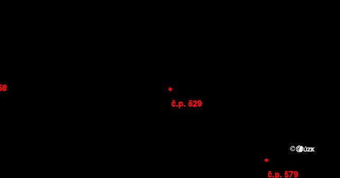 Kunštát 529 na parcele st. 927/8 v KÚ Kunštát na Moravě, Katastrální mapa