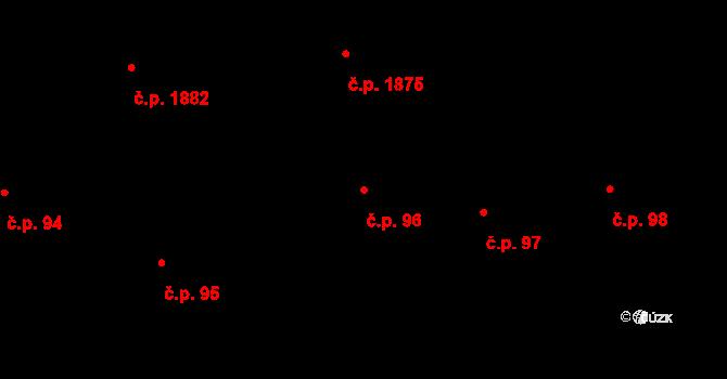 Zelené Předměstí 96, Pardubice na parcele st. 3302 v KÚ Pardubice, Katastrální mapa
