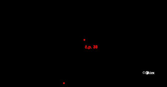 Lhota 38, Mladošovice na parcele st. 66 v KÚ Lhota u Vlachnovic, Katastrální mapa