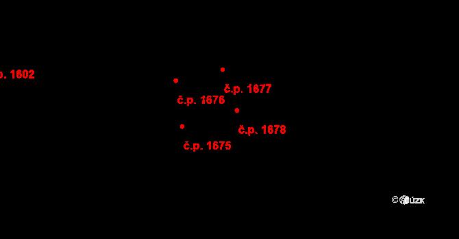 Švermov 1678, Kladno na parcele st. 1139 v KÚ Hnidousy, Katastrální mapa