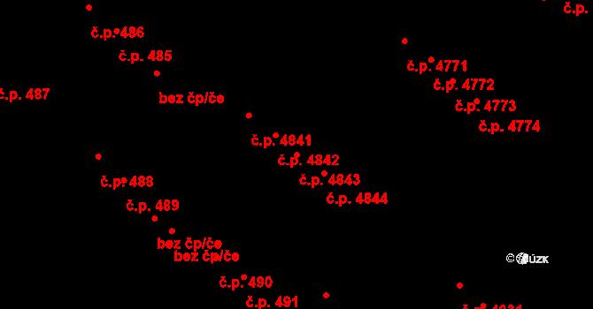 Zruč nad Sázavou 4843 na parcele st. 1619/3 v KÚ Zruč nad Sázavou, Katastrální mapa