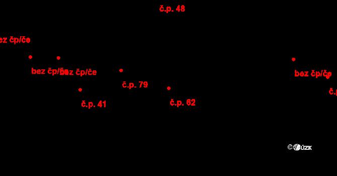 Družec 62 na parcele st. 55 v KÚ Družec, Katastrální mapa