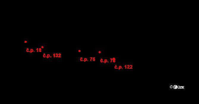 Zlín 78 na parcele st. 254/2 v KÚ Zlín, Katastrální mapa