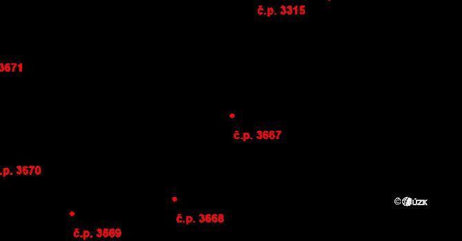 Frýdek 3667, Frýdek-Místek na parcele st. 6520/17 v KÚ Frýdek, Katastrální mapa