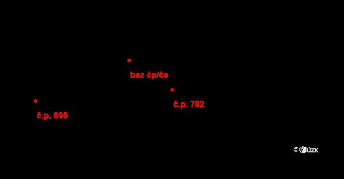 Stonava 782 na parcele st. 2964/1 v KÚ Stonava, Katastrální mapa