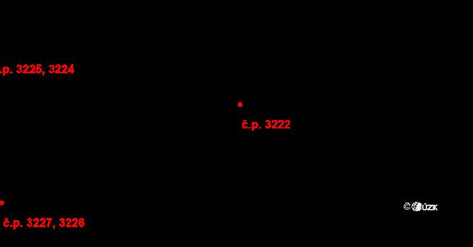 Modřany 3222, Praha na parcele st. 4400/119 v KÚ Modřany, Katastrální mapa