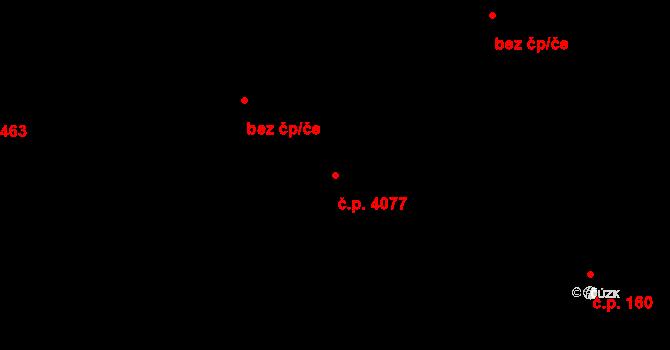 Zlín 4077 na parcele st. 219 v KÚ Zlín, Katastrální mapa